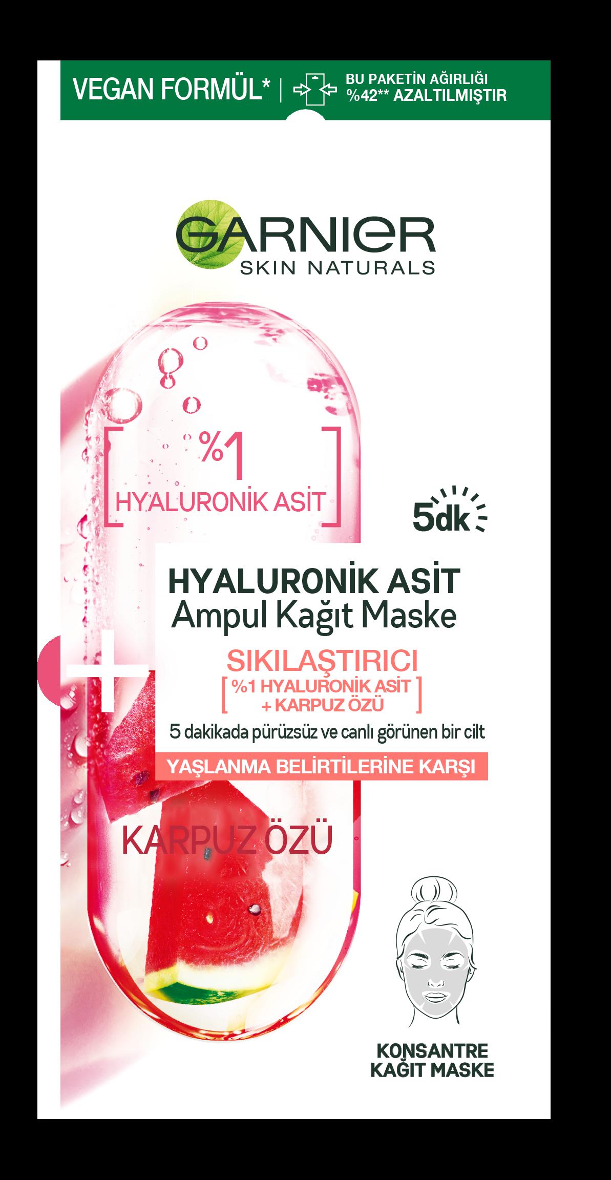 Hyaluronik Asit Sıkılaştırıcı Ampul Kağıt Yüz Maskesi