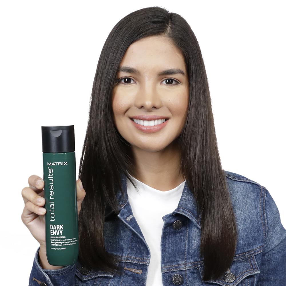 Dark Envy Siyah, Koyu Kestane ve Kahverengi Saçlar İçin Renk Koruyucu Yeşil Şampuan