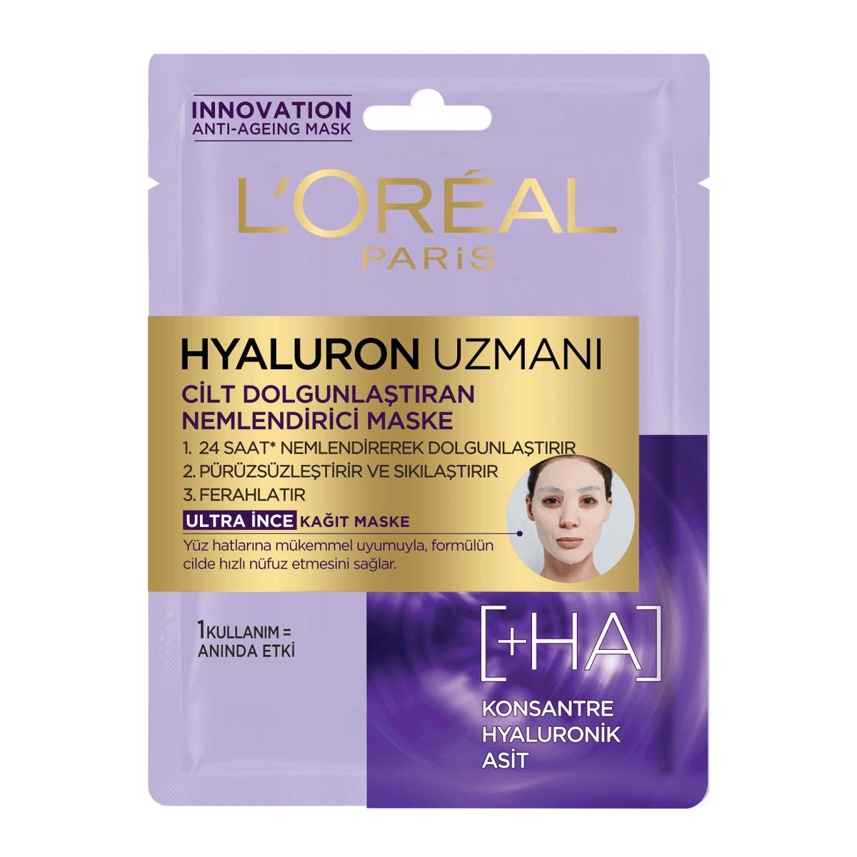 Hyaluron Uzmanı Kağıt Yüz Maskesi