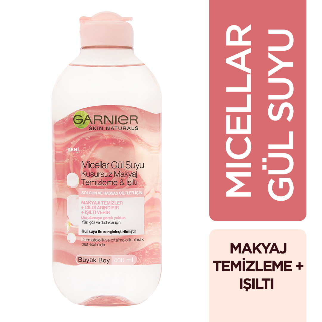 Micellar Gül Suyu Kusursuz Makyaj Temizleme & Işıltı