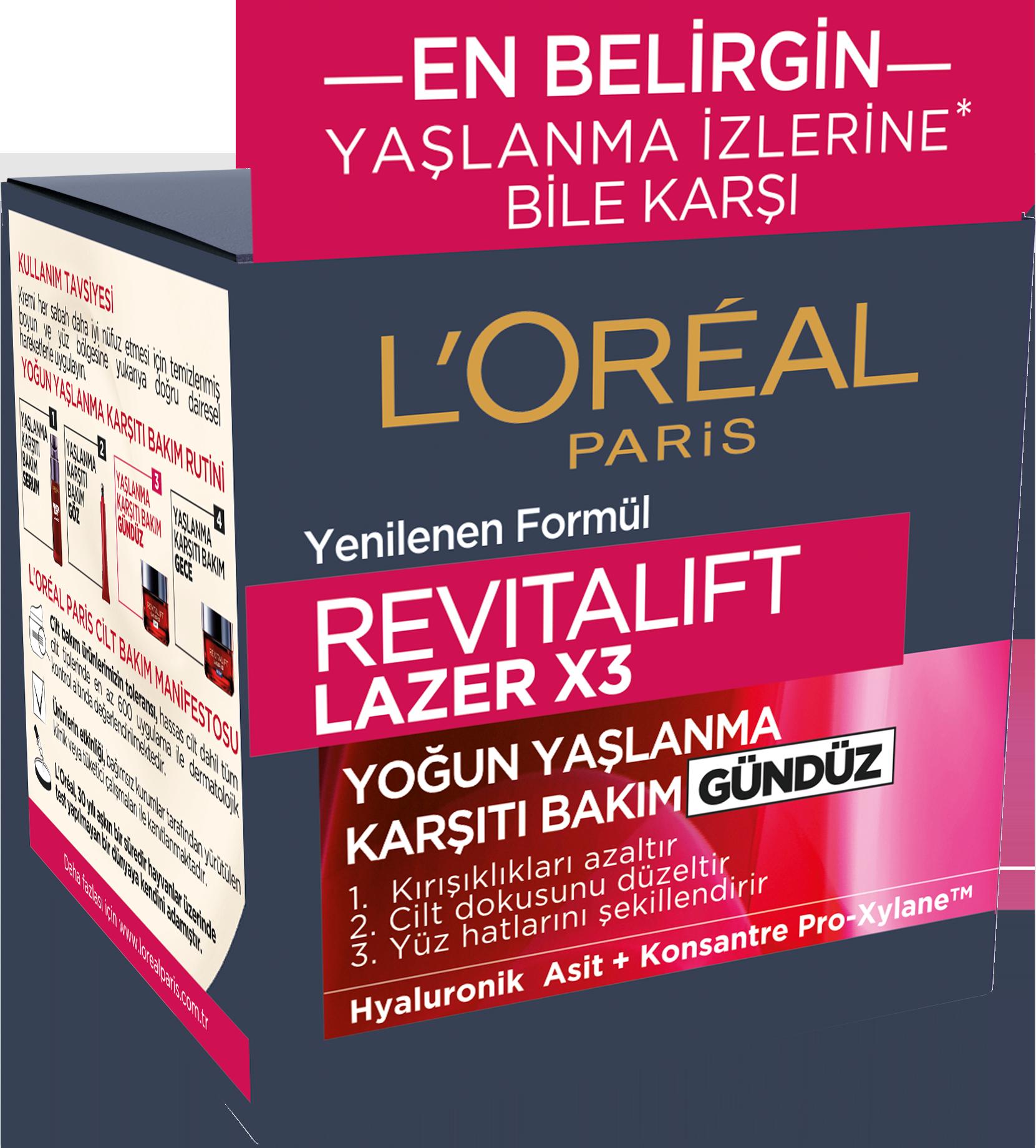 Revitalift Lazer X3 Yoğun Yaşlanma Karşıtı Gündüz Bakım Kremi