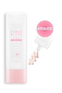 Aydınlatıcı Pembe Bazlı Güneş Kremi - Power Block Tone Up Sun Base Pink SPF50+