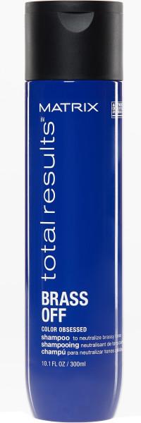 BRASS OFF Kumral, Açık Kestane ve Kahverengi Saçlar için Renk Koruyucu Mavi Şampuan
