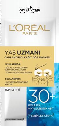Yaş Uzmanı Canlandırıcı Kağıt Göz Maskesi 30+