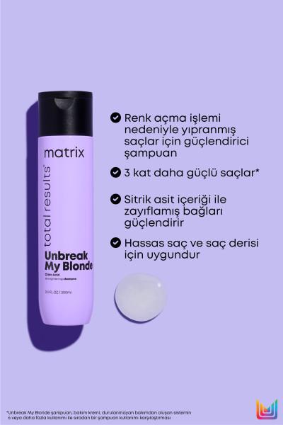 Unbreak My Blonde Onarıcı ve Güçlendirici Şampuan