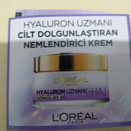 Gündüz Kremi-L'Oréal Paris-Hyaluron Uzmanı Cilt Dolgunlaştıran Nemlendirici Krem GKF 20-1641sibel-yorum-Puan-5puantiye
