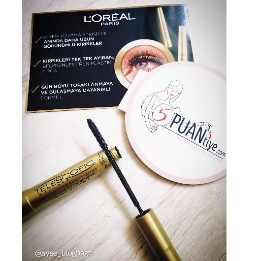 Maskara-L'Oréal Paris Makyaj-Telescopic Maskara-ayseblogpage-yorum-Puan-5puantiye