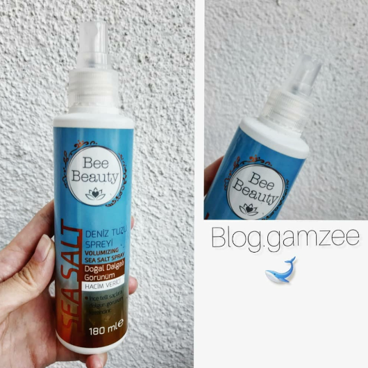 Saç Şekillendirici-Bee Beauty-Hacim Veren Deniz Tuzu Spreyi-bloggamzee-yorum-Puan-5puantiye