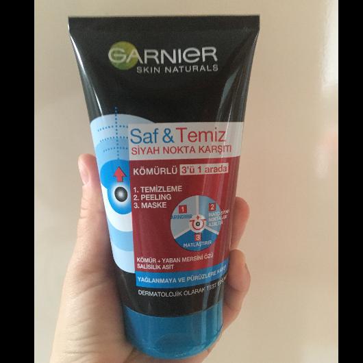 Peeling-Garnier Skin Naturals-Saf & Temiz Siyah Nokta Karşıtı Kömürlü Peeling-blogs_emel-yorum-Puan-5puantiye