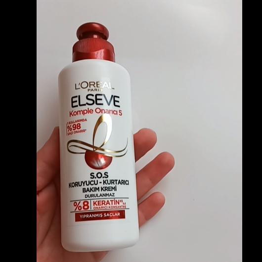 Saç Bakım Ürünleri-Elseve-Komple Onarıcı 5 S.O.S Koruyucu Kurtarıcı Bakım Kremi-dilek1983-yorum-Puan-5puantiye