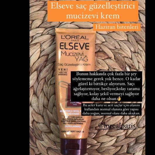 Saç Bakım Ürünleri-Elseve-Mucizevi Yağ Saç Güzelleştirici Krem Kuru ve Sert Saçlar İçin-endamdan-yorum-Puan-5puantiye