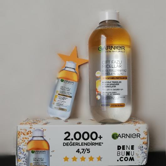 Makyaj Temizleyici-Garnier Skin Naturals-Garnier Çift Fazlı Micellar Kusursuz Makyaj Temizleme Suyu-esradeniz1-yorum-Puan-5puantiye