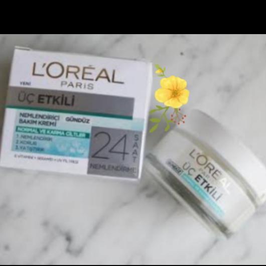 Günlük Krem-L'Oréal Paris-3 Etkili Ferahlık Günlük Bakım Kremi Normal Ve Karma Ciltler-evinblog35-yorum-Puan-5puantiye
