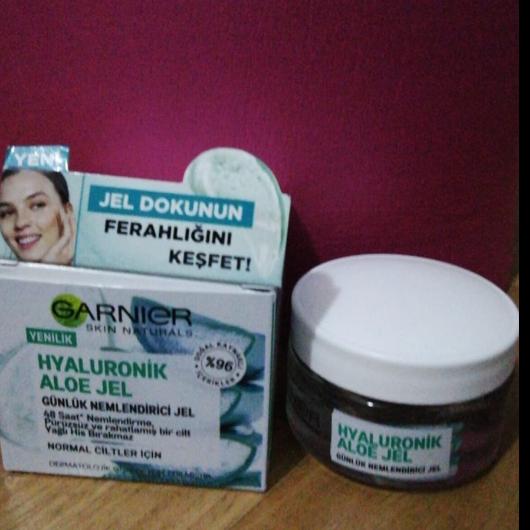 Günlük Krem-Garnier Skin Naturals-Hyaluronik Aloe Günlük Nemlendirici Jel-evinblog35-yorum-Puan-5puantiye
