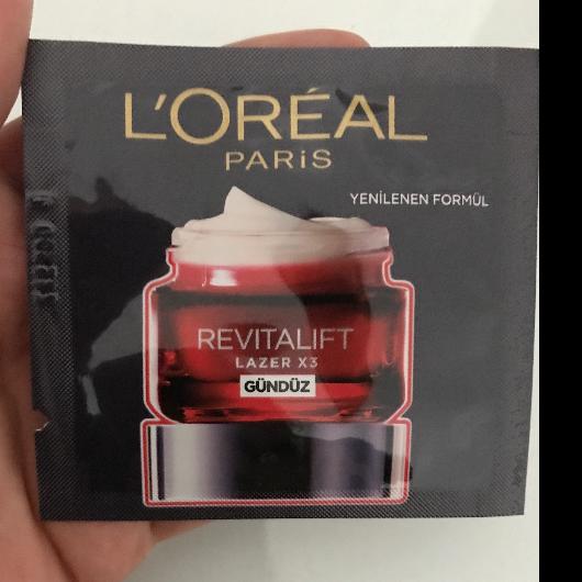 Gündüz Kremi-L'Oréal Paris-Revitalift Lazer X3 Yoğun Yaşlanma Karşıtı Gündüz Bakım Kremi-fish80-yorum-Puan-5puantiye