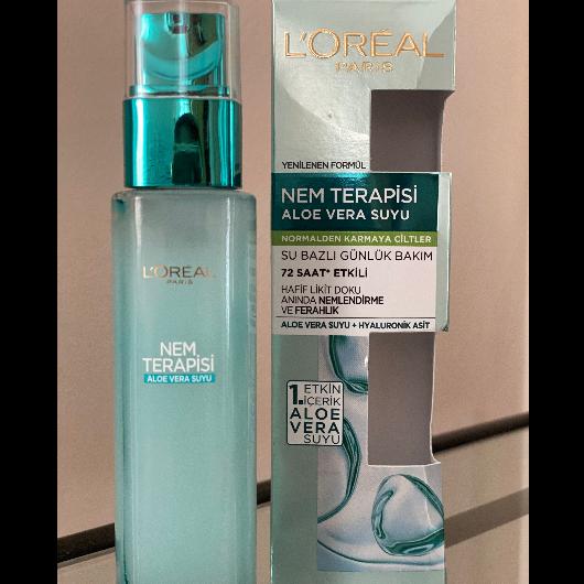 Günlük Krem-L'Oréal Paris-Nem Terapisi Aloe Vera Suyu Normalden Karmaya Ciltler-forwmeverything-yorum-Puan-5puantiye