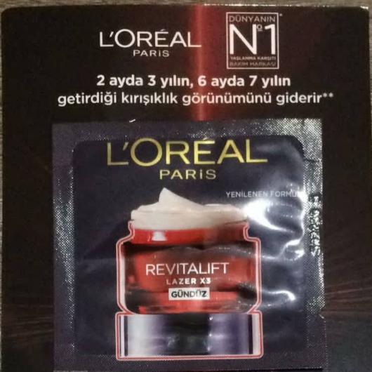 Gündüz Kremi-L'Oréal Paris-Revitalift Lazer X3 Yoğun Yaşlanma Karşıtı Gündüz Bakım Kremi-gunel-yorum-Puan-5puantiye