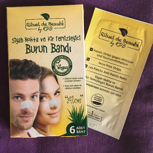 Temizleme Ürünleri-Rituel de Beauté-Aloe Vera Siyah Nokta Burun Bandı-kucukkarabalik-yorum-Puan-5puantiye