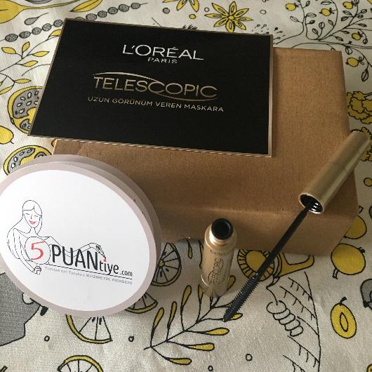 Maskara-L'Oréal Paris Makyaj-Telescopic Maskara-kucukkarabalik-yorum-Puan-5puantiye
