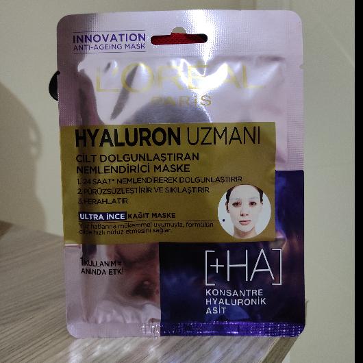Maske-L'Oréal Paris-Hyaluron Uzmanı Kağıt Yüz Maskesi-meliha1998-yorum-Puan-5puantiye