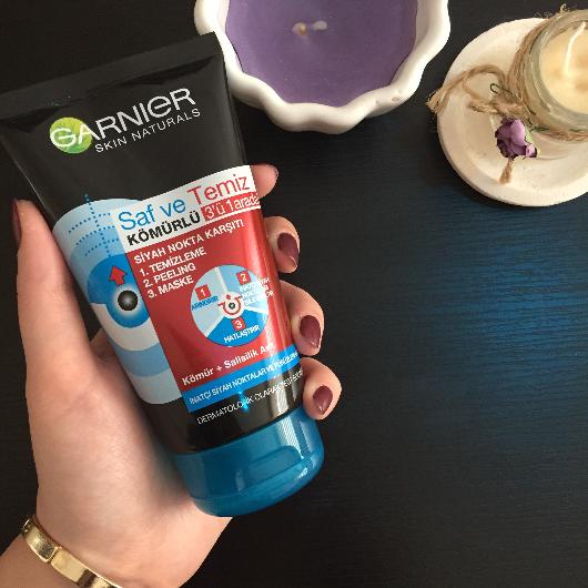 Peeling-Garnier Skin Naturals-Saf & Temiz Siyah Nokta Karşıtı Kömürlü Peeling-melikesakarya-yorum-Puan-5puantiye