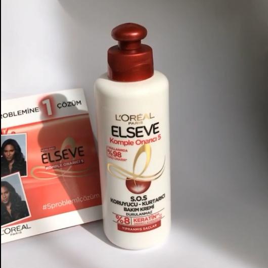 Saç Bakım Ürünleri-Elseve-Komple Onarıcı 5 S.O.S Koruyucu Kurtarıcı Bakım Kremi-myblogchallenge-yorum-Puan-5puantiye