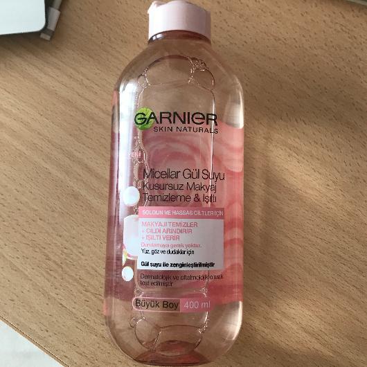 Makyaj Temizleyici-Garnier Skin Naturals-Micellar Gül Suyu Kusursuz Makyaj Temizleme & Işıltı-zehraninguzelligi11-yorum-Puan-5puantiye